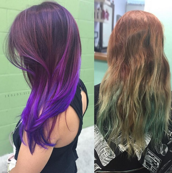 20 Purple Ombre Hair Color Ideas – Popular Haircuts With Regard To Purple Long Hairstyles (View 16 of 25)