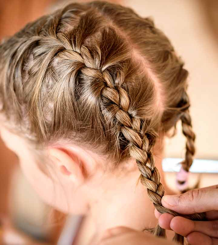 20 Quick And Easy Braids For Kids (Tutorial Included) Inside Classic Prom Updos With Thick Accent Braid (View 18 of 25)