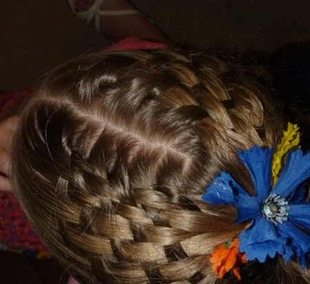 20 Short Hairstyles For Little Girls Intended For Jewelled Basket Weave Prom Updos (View 17 of 25)