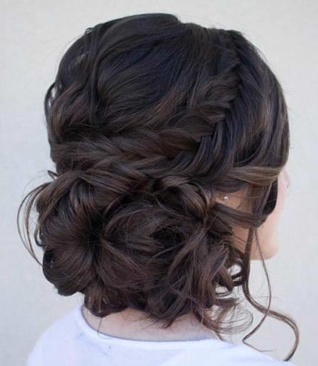 20 Simple Updos For Long Hair Inside Fishtail Florette Prom Updos (View 18 of 25)