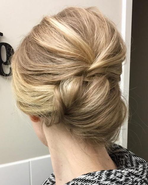 20 Simple Updos That Are Super Cute & Easy (2019 Trends) Throughout Volumized Low Chignon Prom Hairstyles (View 5 of 25)