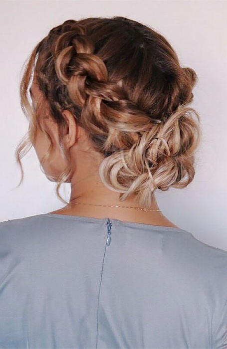20 Stunning Updos For Short Hair – The Trend Spotter Throughout Complex Looking Prom Updos With Variety Of Textures (View 23 of 25)