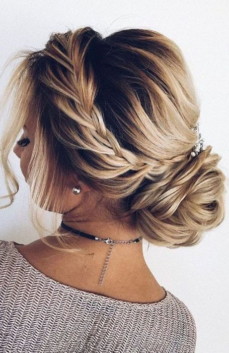 20 Stunning Updos For Short Hair – The Trend Spotter Within Dutch Braid Prom Updos (View 11 of 25)
