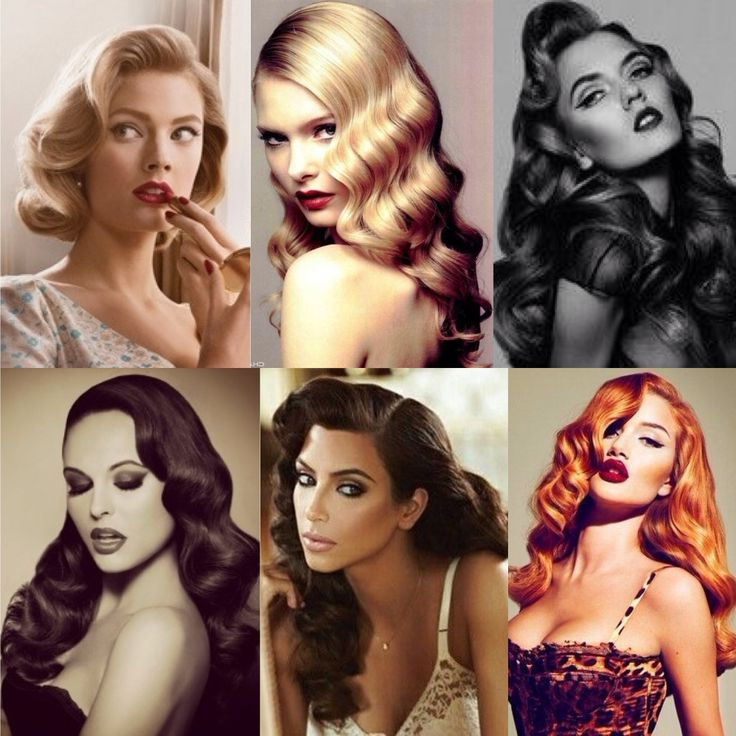 20 Stylish Retro Wavy Hairstyle Tutorials And Hair Looks – Pretty Regarding Vintage Hairstyles For Long Hair (View 19 of 25)