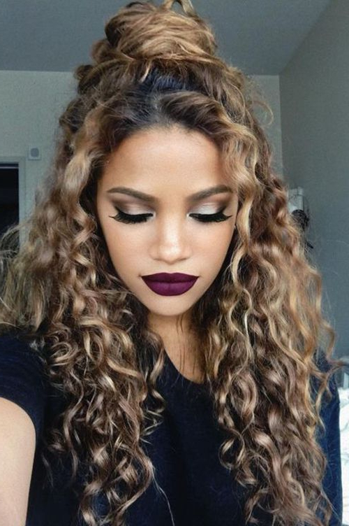 20 Trendy Hairstyles For Curly Hair   Natural Curly Hair   Long Hair Within Long Hairstyles Curly Hair (View 4 of 25)