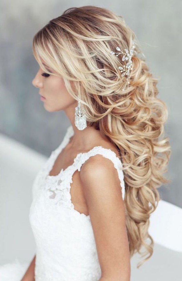 200 Beautiful Long Hair Styles That Are Great For Weddings And Proms With Cascading Waves Prom Hairstyles For Long Hair (View 17 of 25)
