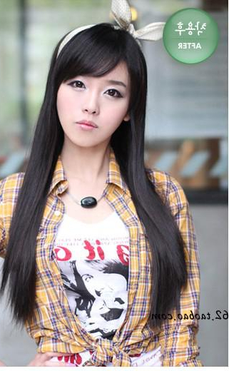 2013 New Half Wig With Long Straight Hair Wig Korean Girls With Regard To Long Straight Japanese Hairstyles (View 22 of 25)