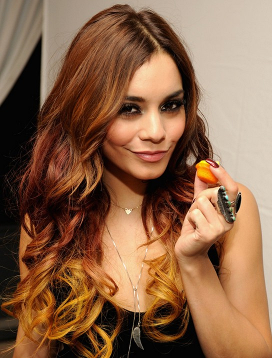2014 Vanessa Hudgens' Long Hairstyles: Ombre Wavy Hair Style Regarding Vanessa Hudgens Long Hairstyles (View 22 of 25)