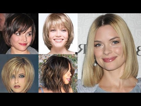 2018 Bob Haircuts For Fine Hair Round Face ( Short + Long Bob Hair Regarding Long Hairstyles For Round Faces And Fine Hair (View 7 of 25)