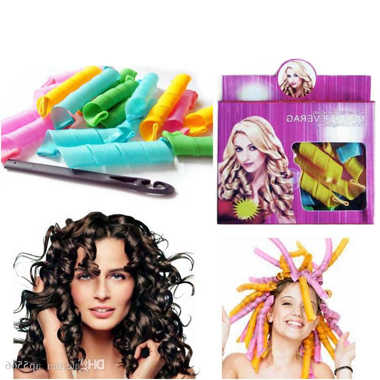 2018 Hot Sell Diy Magic Leverag Magic Hair Curler Roller Magic With Curlers For Long Thick Hair (View 15 of 25)