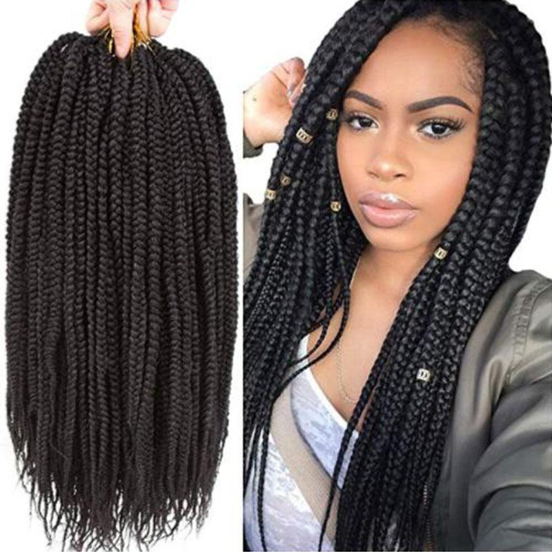 2019 1Packs 14''1822 Box Braids Crochet Hair Synthetic Hair Intended For Long Hairstyles Extensions (View 19 of 25)