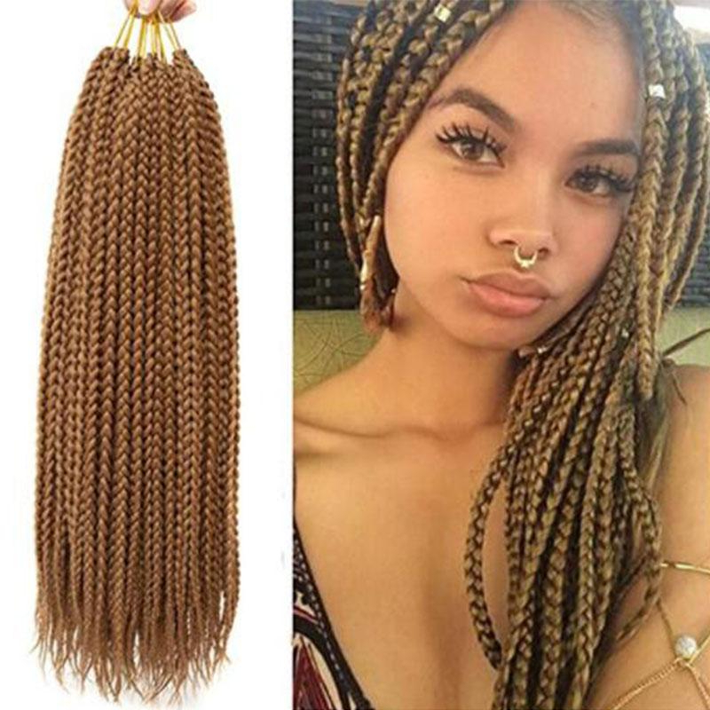 2019 3 Packs 14''1822 Box Braids Crochet Hair Synthetic Hair In Long Hairstyles Extensions (View 25 of 25)