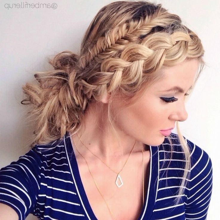 21 All New French Braid Updo Hairstyles – Popular Haircuts In Formal Dutch Fishtail Prom Updos (View 17 of 25)