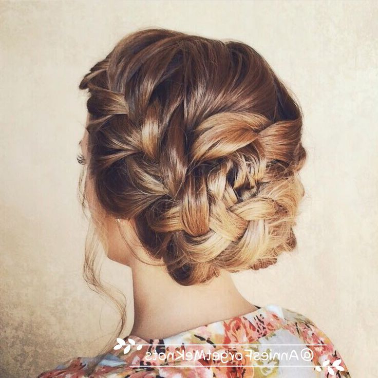 21 All New French Braid Updo Hairstyles – Popular Haircuts Inside Side Bun Twined Prom Hairstyles With A Braid (View 10 of 25)