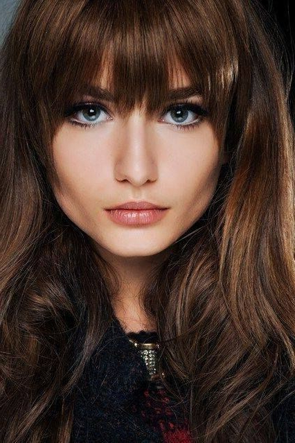 21 Amazing Hairstyles With Bangs – Pretty Designs In Full Fringe Long Hairstyles (View 15 of 25)