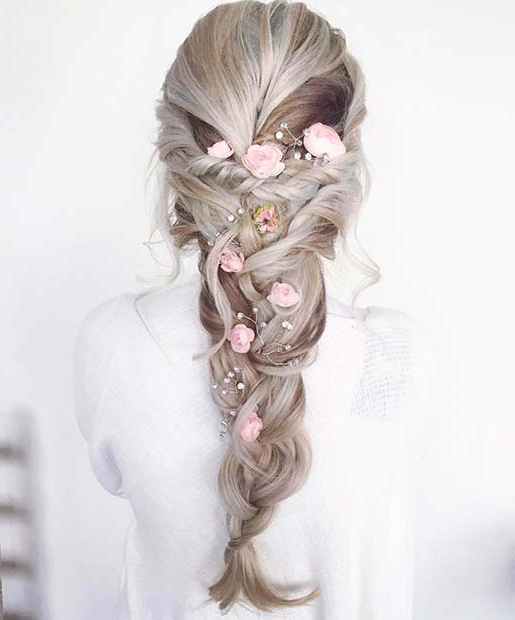 21 Beautiful Hair Style Ideas For Prom Night   Stayglam With Regard To Floral Braid Crowns Hairstyles For Prom (View 22 of 25)