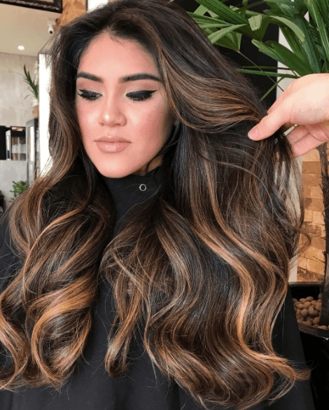 21 Best Brown Balayage Hair Colours | All Things Hair Throughout Long Thick Black Hairstyles With Light Brown Balayage (View 25 of 25)