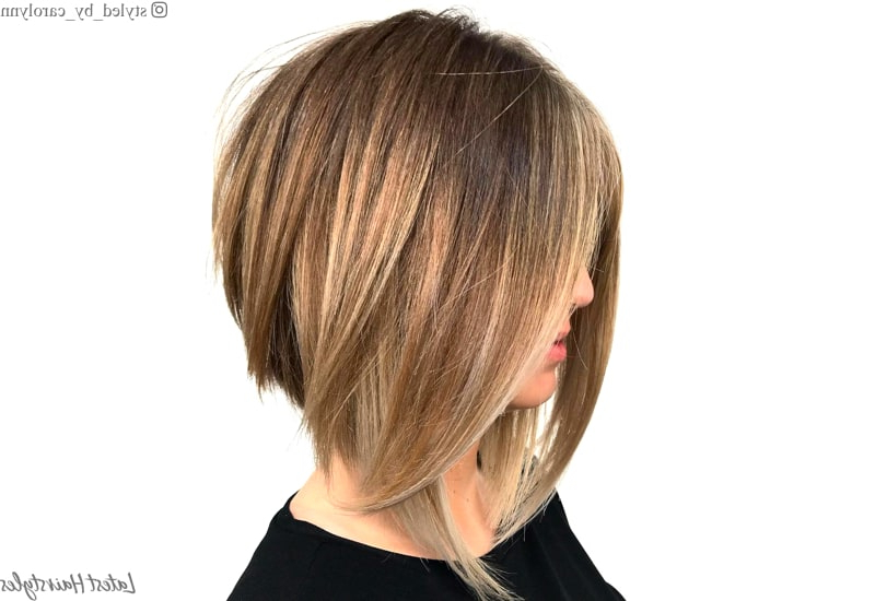 21 Best Long Layered Bob (Layered Lob) Hairstyles In 2019 Within Mid Back Brown U Shaped Haircuts With Swoopy Layers (View 15 of 25)