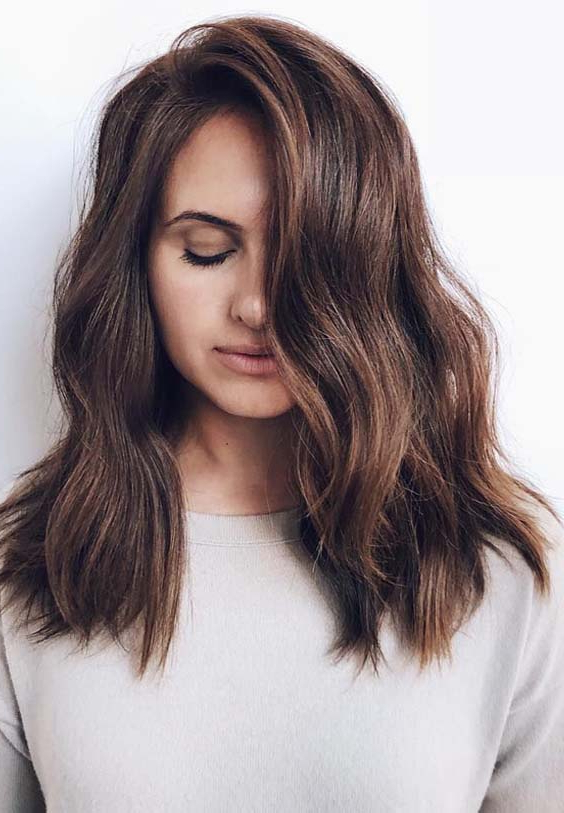 21 Best Medium To Long Hairstyles With Bangs In 2019 | Absurd Styles Pertaining To Long Haircuts Bangs (View 20 of 25)