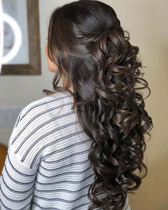21 Best Quinceanera Hairstyles For Your Big Day | Page 2 Of 2 | Stayglam Intended For Long Quinceanera Hairstyles (View 22 of 25)