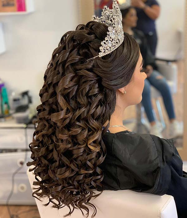 21 Best Quinceanera Hairstyles For Your Big Day | Stayglam Pertaining To Long Quinceanera Hairstyles (View 12 of 25)