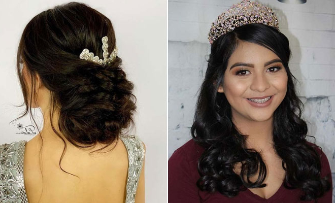 21 Best Quinceanera Hairstyles For Your Big Day | Stayglam Regarding Long Curly Quinceanera Hairstyles (View 23 of 25)