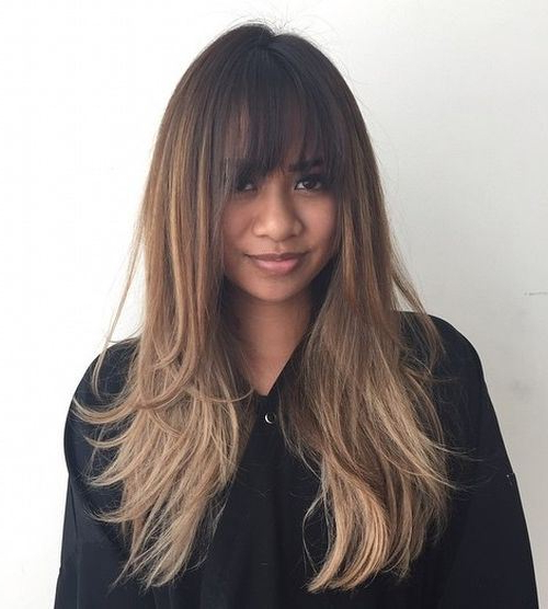 21 Cute, Effortless Long Hairstyles With Bangs And Layers Inside Long Hairstyles Bangs (View 11 of 25)
