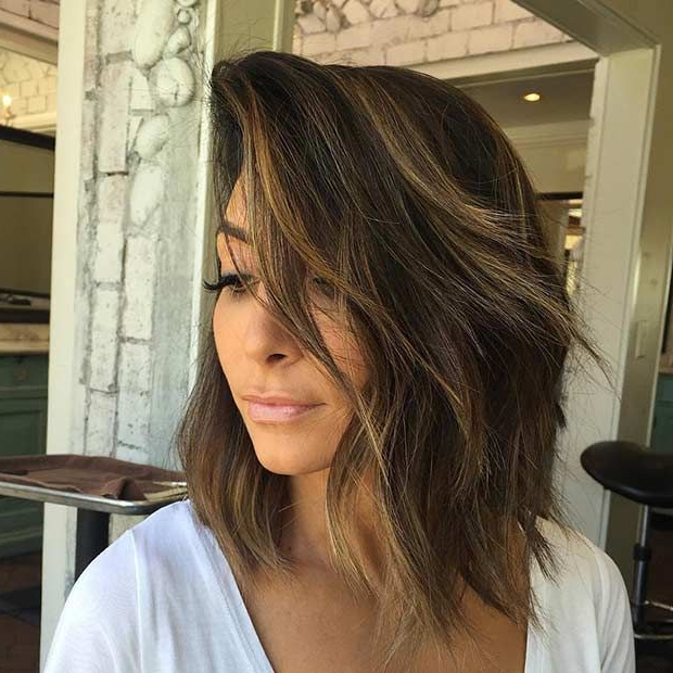21 Cute Lob Haircuts For This Summer | Stayglam Hairstyles | Hair Throughout Choppy Layers Long Hairstyles With Highlights (View 10 of 25)