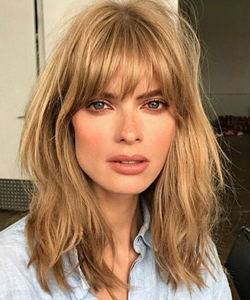 21 Luscious Long Bobs Styling Ideas To Inspire You Within Long Bob Hairstyles With Bangs (View 11 of 25)