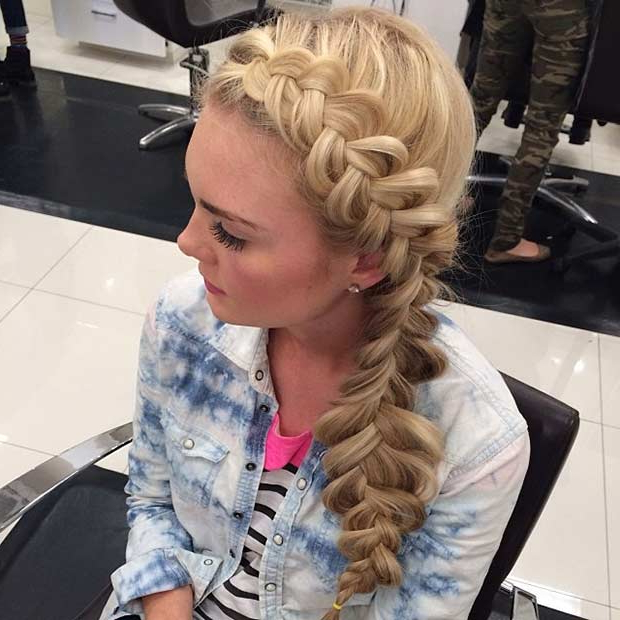 21 Pretty Side Swept Hairstyles For Prom | Stayglam Intended For Long Hairstyles To The Side (View 24 of 25)