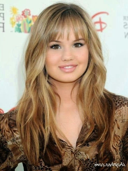 21 Trendy Hairstyles To Slim Your Round Face | Hair | I Love | Long Pertaining To Trendy Long Hairstyles With Bangs (View 18 of 25)