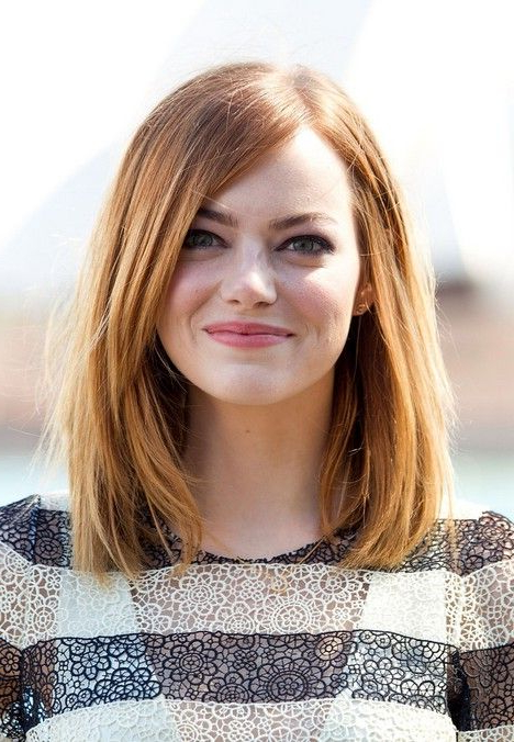 21 Trendy Hairstyles To Slim Your Round Face – Popular Haircuts Intended For Long Hairstyles For Chubby Face (View 17 of 25)