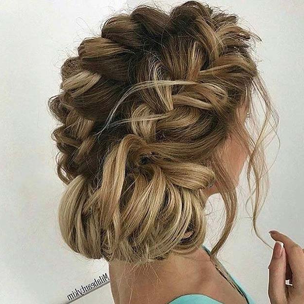 21 Updo Prom Styles Perfect For The Big Night | Stayglam In Double Braided Prom Updos (View 7 of 25)