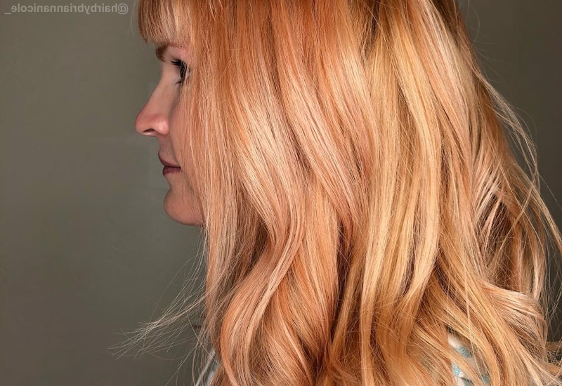 21 Yummiest Strawberry Blonde Hair Colors For 2019! With Regard To Long Feathered Strawberry Blonde Haircuts (View 18 of 25)