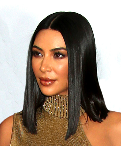 22 Kim Kardashian Hairstyles, Hair Cuts And Colors Inside Long Bob Hairstyles Kim Kardashian (View 2 of 25)