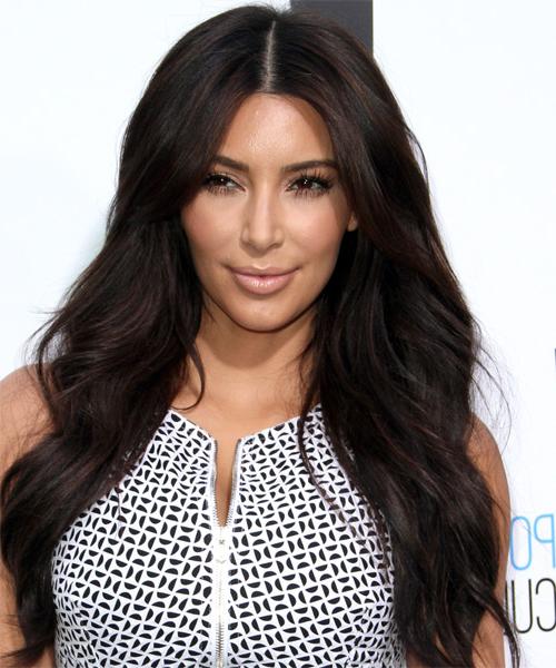 22 Kim Kardashian Hairstyles, Hair Cuts And Colors Inside Long Hairstyles Kim Kardashian (View 2 of 25)