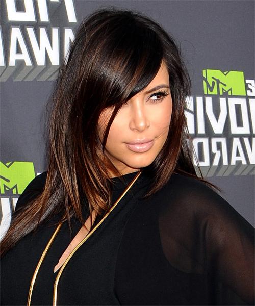22 Kim Kardashian Hairstyles, Hair Cuts And Colors Regarding Kim Kardashian Long Haircuts (View 20 of 25)