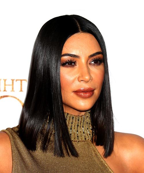 22 Kim Kardashian Hairstyles, Hair Cuts And Colors Regarding Long Bob Hairstyles Kim Kardashian (View 5 of 25)