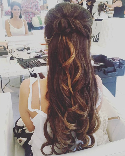 22 Most Stylish Wedding Hairstyles For Long Hair – Haircuts Throughout Wedding Half Up Long Hairstyles (View 17 of 25)