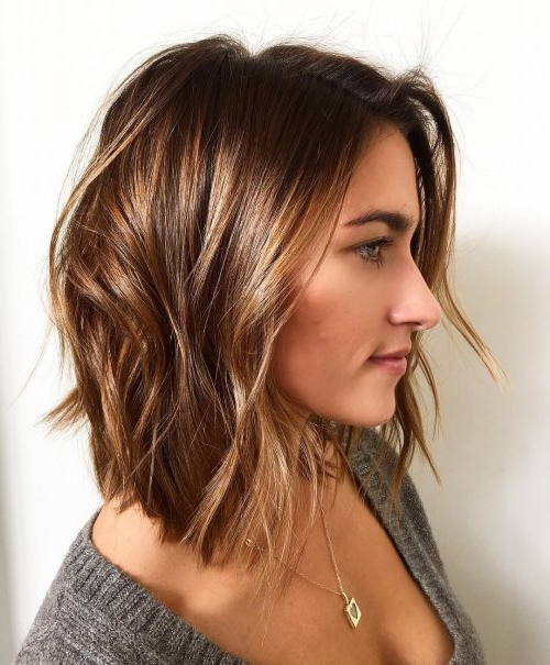 22 Perfect Medium Length Hairstyles For Thin Hair In 2019 Pertaining To Messy Layered Haircuts For Fine Hair (View 3 of 24)