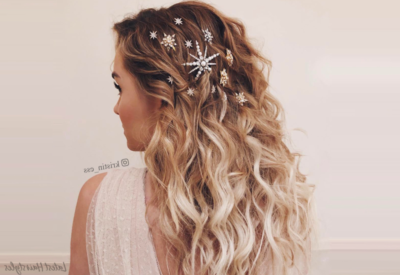 22 Perfectly Gorgeous Down Hairstyles For Prom Throughout Cascading Waves Prom Hairstyles For Long Hair (View 18 of 25)