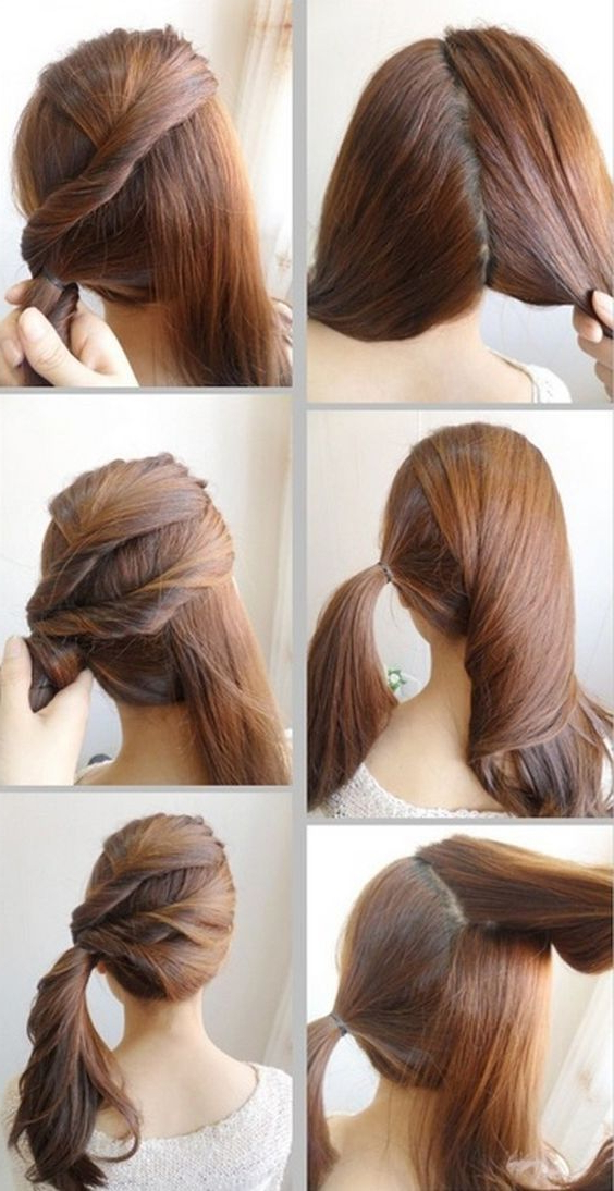 22 Quick And Easy Back To School Hairstyle Tutorials Regarding Long Hairstyles Easy And Quick (View 15 of 25)
