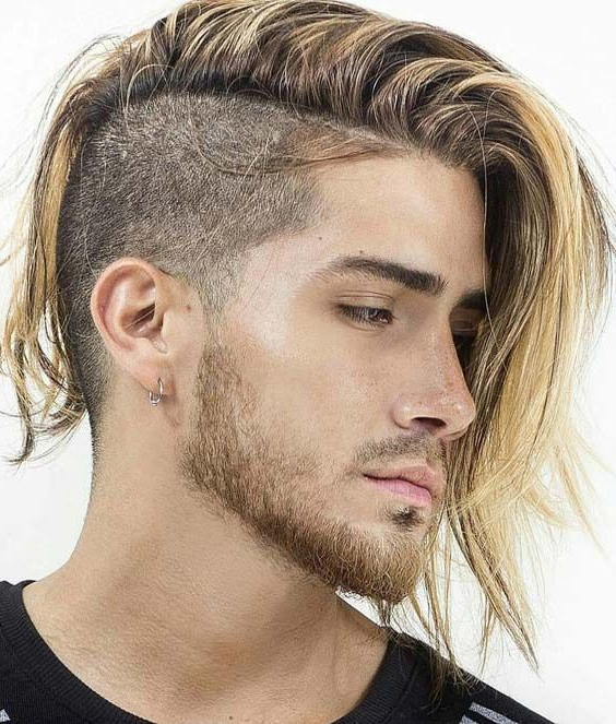 22 Sensational Side Shaved Long Hairstyles For Men 2018 | Hair Color For Side Long Hairstyles (View 12 of 25)