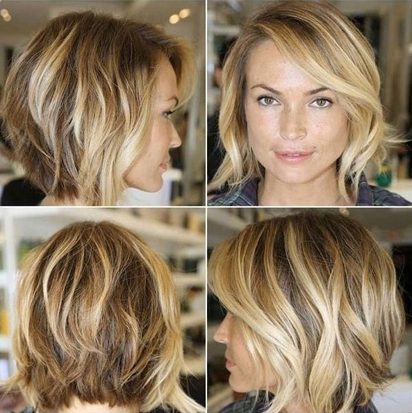 22 Tousled Bob Hairstyles – Popular Haircuts Inside Messy Loose Curls Long Hairstyles With Voluminous Bangs (View 17 of 25)
