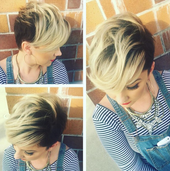 22 Trendy Short Haircut Ideas For 2019: Straight, Curly Hair Pertaining To Long Front Short Back Hairstyles (View 25 of 25)