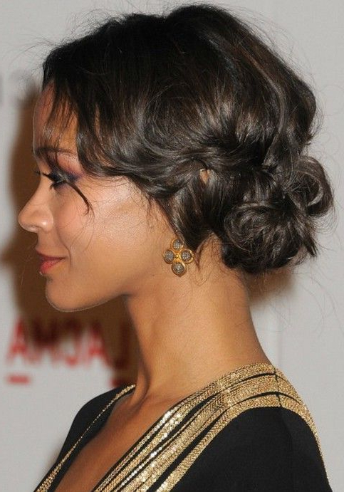 23 African American Prom Hairstyles – Gallery Of Black Prom Hair Throughout Side Bun Prom Hairstyles With Black Feathers (View 3 of 25)