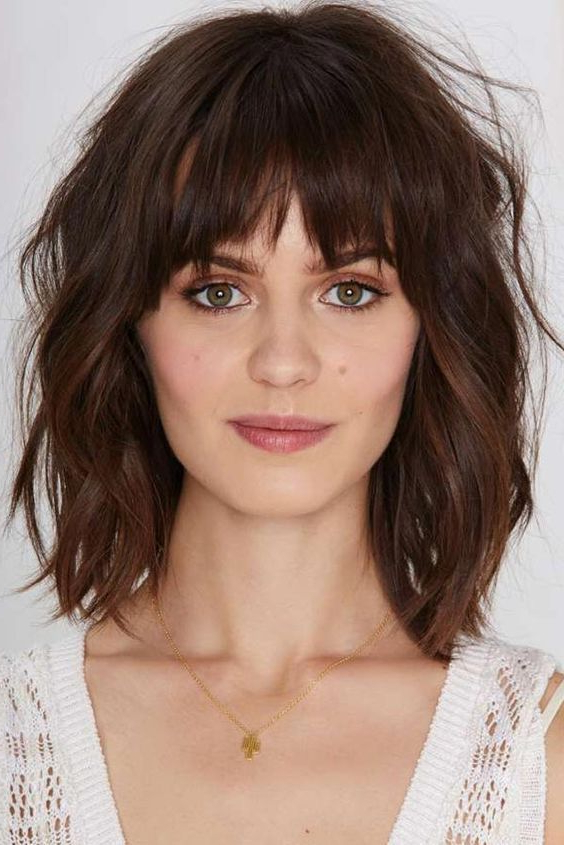 23+ Best Medium Length Hairstyles With Bangs For 2018 – 2019 | Hair With Best Long Hairstyles With Bangs (View 25 of 25)