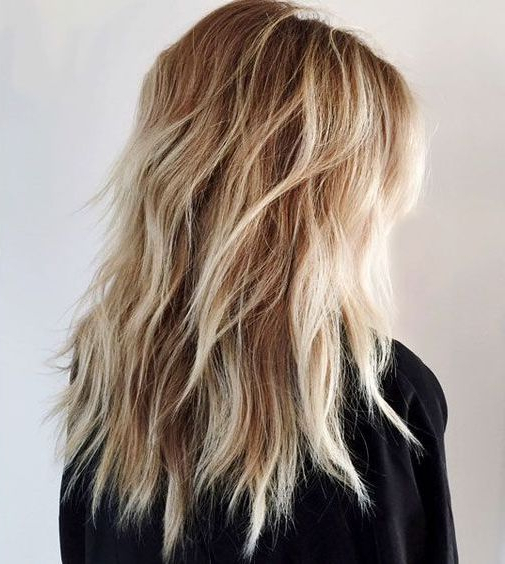 23 Chic Layered Haircuts For Various Hair Lengths – Styleoholic Regarding Shaggy Long Layers Hairstyles (View 6 of 25)