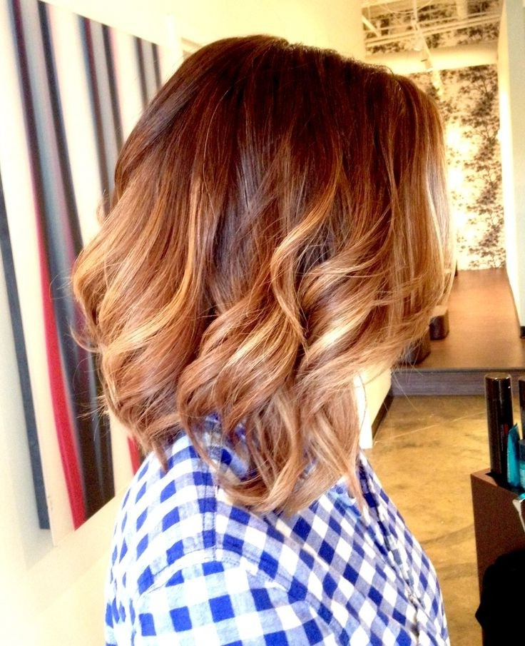 23 Cute Bob Haircuts & Styles For Thick Hair: Short, Shoulder Length Inside Long Voluminous Ombre Hairstyles With Layers (View 11 of 23)