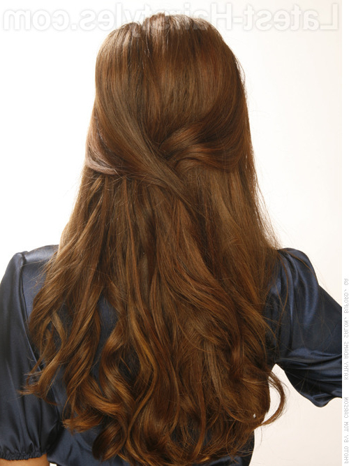 23 Gorgeous Formal Half Updos You'll Fall In Love With For Long Layered Half Curled Hairstyles (View 11 of 25)